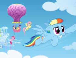 Game Rainbow pony Dash online