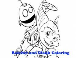 игра рэтчет и кланк раскраска онлайн Ratchet And Clank