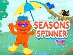 Game 123 Sesame Street: Seasons spinner online  Play for free