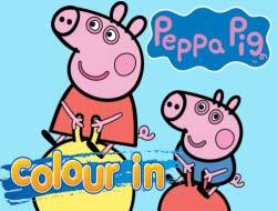 Ігра Свинка Пеппа  в колір . Грати безкоштовно онлайн. ea3818ee17209