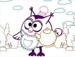 игра смешарики раскрась картинку онлайн Kikoriki Coloring