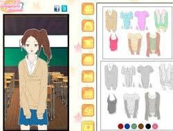 8e5c0196eacd Παιχνίδι Shoujo manga κορίτσι φόρεμα μέχρι το παιχνίδι. Παίξτε δωρεάν  online.