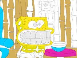 Ігра Дитяча розфарбування  злий Губка Боб . Грати безкоштовно онлайн. aa2eb29fe082f