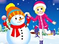 Игра Winter Snowman and Girl