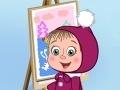 Игра Masha and the Bear: Who painted?