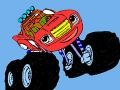 Игра Blaze and the monster machines: Coloring
