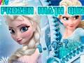 Joc Frozen Math Quiz