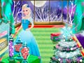 Игра Elsa Christmas Room Decoration