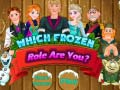 Игра Which Frozen Role Are You