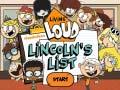 Oyunu The Loud House: Lincolns List