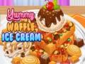 খেলা Yummy Waffle Ice Cream