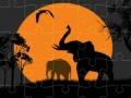 Ігра Elephant Silhouette Jigsaw