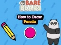 Hra We Bare Bears How to Draw Panda
