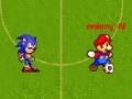 খেলা Mario Vs Sonic Football
