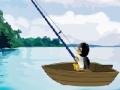 খেলা Fishing penguin
