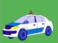 Lojë Old model police car coloring